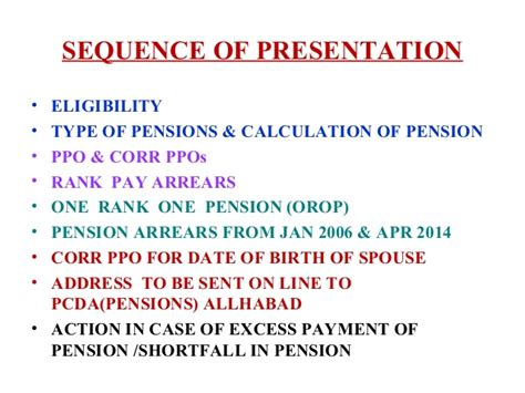 payment of arrears of pensions to pre 2006 pensioners we pensions for defence services personnel brig cs