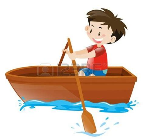 cartoon boat rowing row boat clipart cartoon pencil and in color row boat