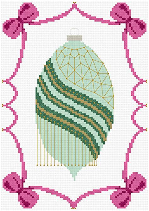 victorian christmas ornament cross stitch pattern ornaments