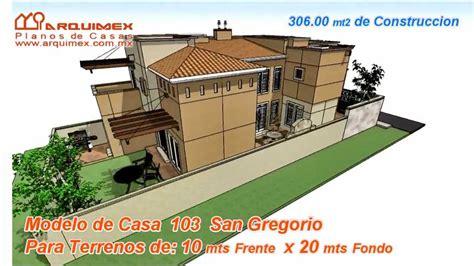 planos de casas modelo san gregorio  arquimex planos de casas youtube
