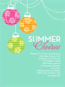summer soiree 4x5 invitation card invitations shutterfly