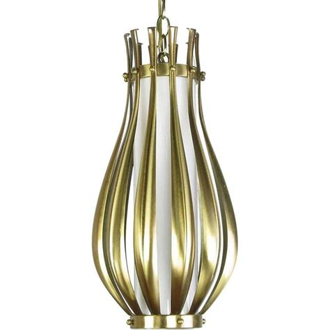 Milk Glass Pendant Light Fixtures Gourd Form Brushed Brass And Milk Glass Pendant Light For Sale At 1stdibs