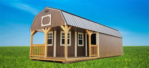 cabin sheds lofted cabins backyard outfitters