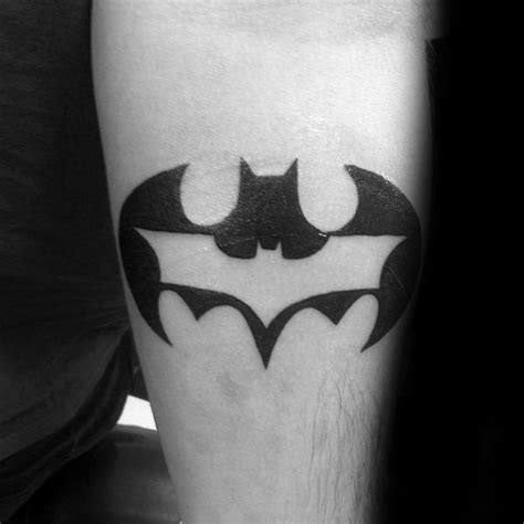 batman logo tattoo arm 50 batman symbol tattoo designs for men superhero ink ideas