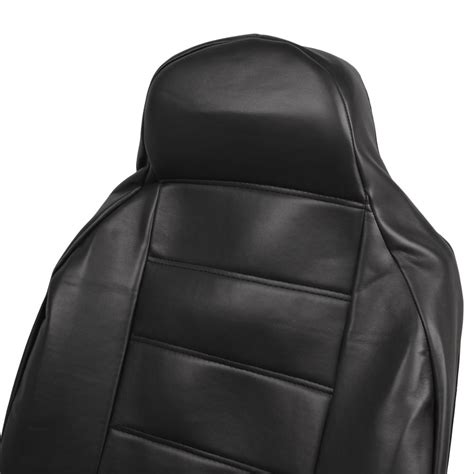 car seat covers with armrest 2pc black pu leather high back car seat covers armrest