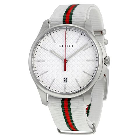 gucci g timeless white striped s