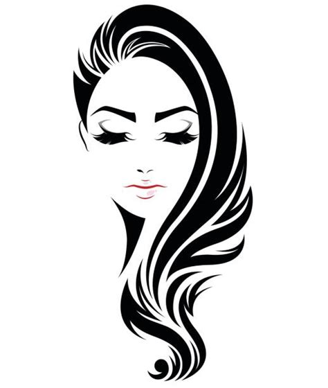 chic fashion hair styling clip black hair clip vector images illustrations istock