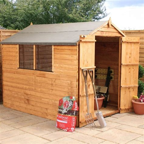 Garden Shed Deals overlap apex garden shed door 8 x 6 deal at