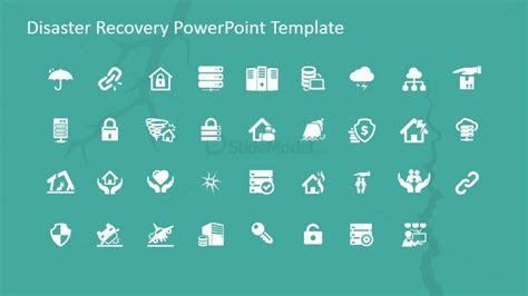 Disaster Recovery Powerpoint Icons Slidemodel Disaster Recovery Powerpoint Template