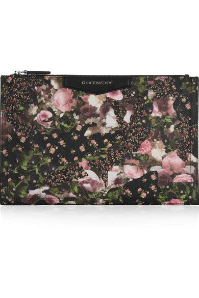 Fivency Flower Pouch givenchy antigona pouch in floral print coated canvas net a porter