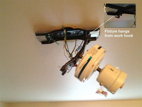 ceiling fan hook mount how to easily install a ceiling fan