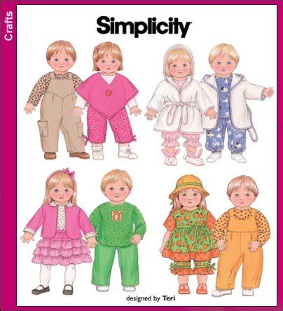 pattern for doll clothes 15 inch simplicity 3886 15 inch doll clothes