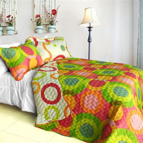 Colorful Quilt Sets by Colorful Doughnut 3 Quilt Set Free Shipping