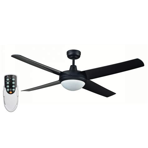 Ceiling Fan With Led by Rotor 52 Inch Led Ceiling Fan With Abs Blades In Black