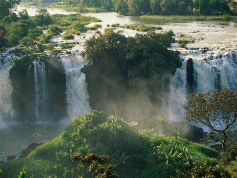 waterfall tourism blue nile falls ethiopia