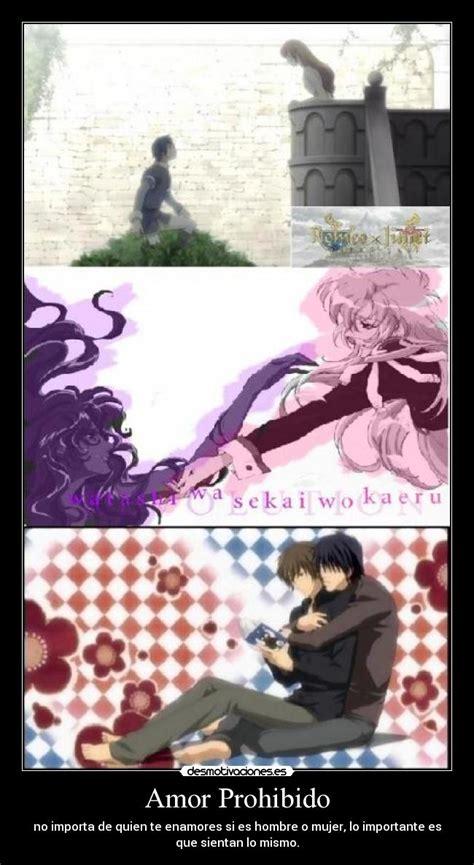 imagenes de amor imposible anime amor prohibido desmotivaciones