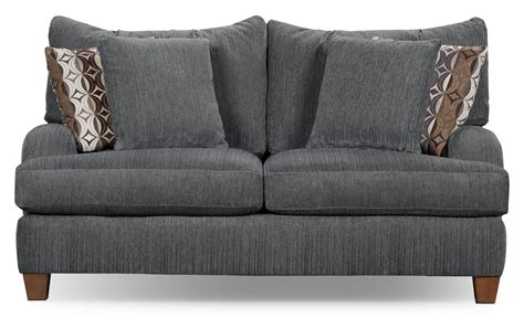 size of loveseat putty chenille studio size loveseat grey the brick