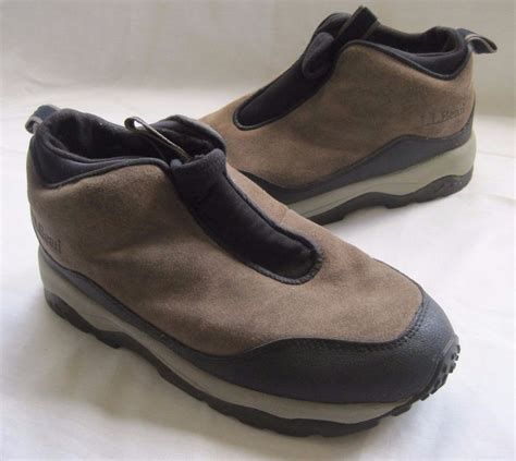 womens ll bean 8 m boots primaloft brown suede slip pull
