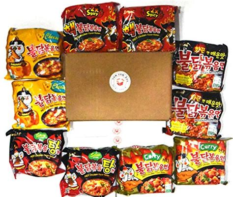 Samyang Spicy Chicken Noodle Free Ongkir samyang ramen spicy chicken roasted noodles variety 10 pack hek nuclear original