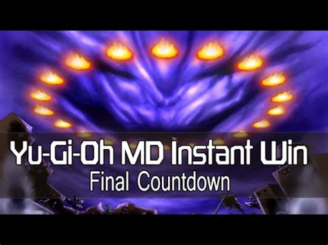 Yugioh Instant Win - yugioh md millennium duels instant win deck final countdown youtube