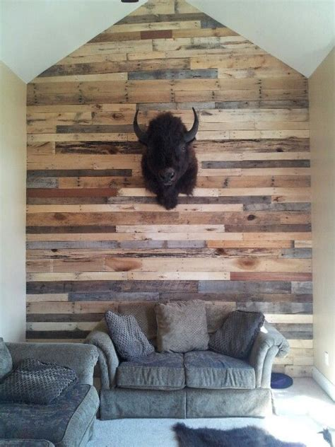 Pallet Wall Fireplace by Pallet Wall Maybe The Bar Accent Wall