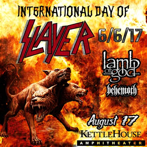 Slayer With Anthrax Live At The Wilma 101316 international slayer day discounted tickets one day only logjam presents