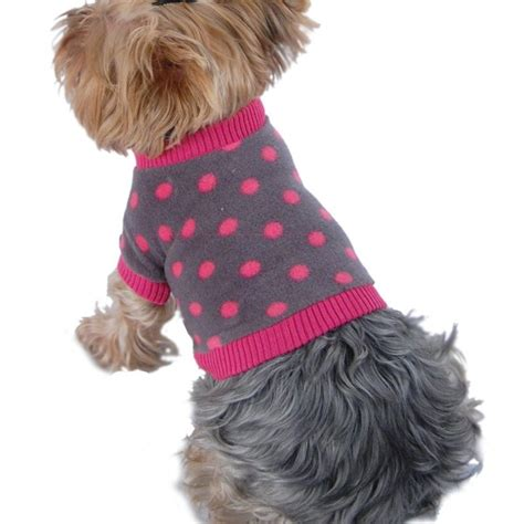 Sweater Malilkids Grey Dot Pink anima grey and pink polka dot fleece sweater with pink trim