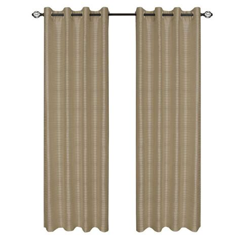 curtain t lavish home taupe maggie grommet curtain panel 108 in
