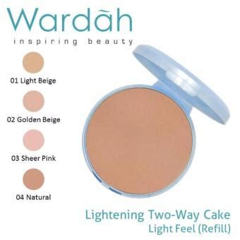 Harga Wardah Two Way Cake Light Feel cek harga baru wardah lightening refill two way cake light