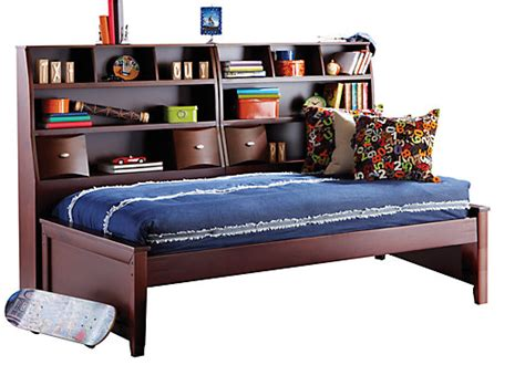 rooms to go day beds ivy league cherry 5 pc twin bookcase daybed twin beds