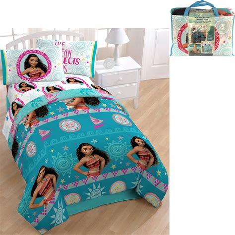 disney bed sets disney moana comforter sheet set bedding in a bag w tote ebay
