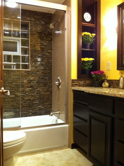 Redoing Bathroom Ideas | small bath big redo contemporary bathroom st louis