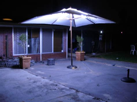 outdoor umbrella lighting led outdoor umbrella lighting bigdiyideas
