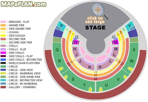 Leeds Arena Floor Plan by Royal Albert Hall Detailed Seat Numbers Seating Plan