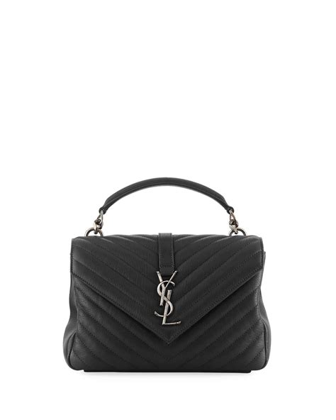 saint laurent college medium monogram ysl  flap crossbody
