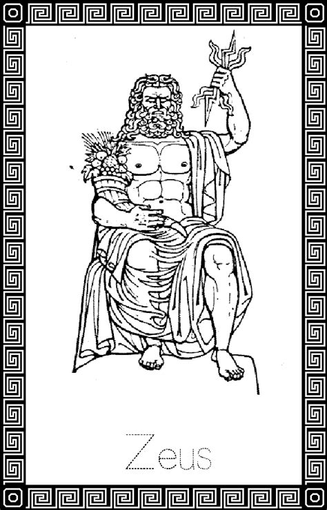 zeus god coloring pages