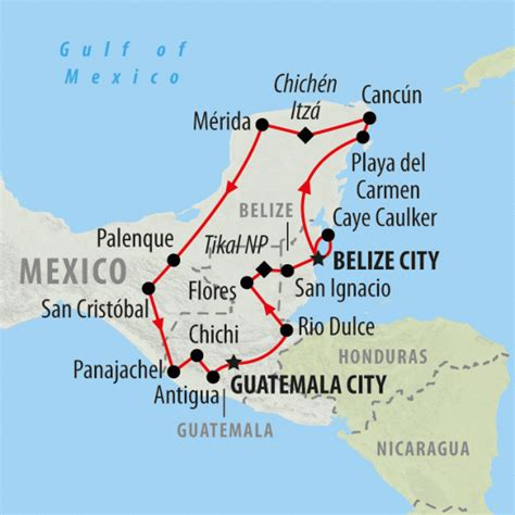 map of mexico and belize mexico belize and guatemala tours mayan empires 22