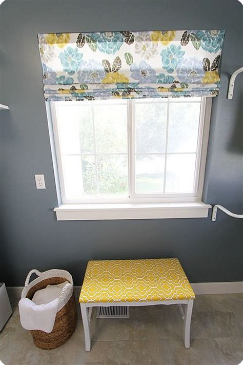 diy shade using blinds for the laundry room wash rinse fold repeat