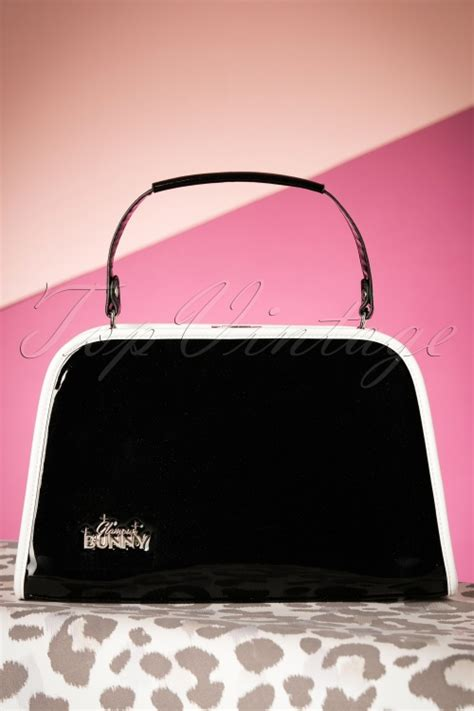 Handbag Find Of The Day Fender Bunny by 50s Patent Glitter Box Handbag In Black