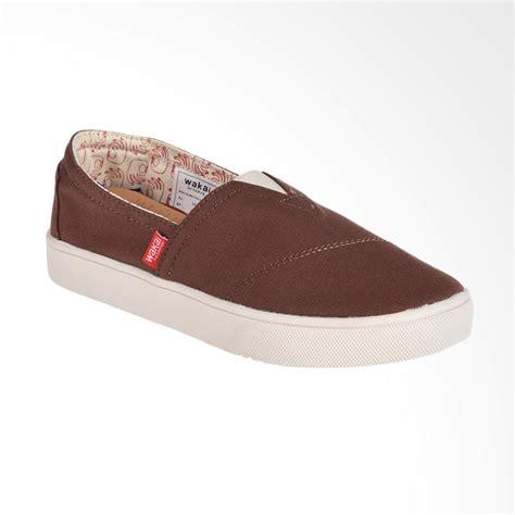 Wakai Shoes Sepatu Slip On Wanita Sepatu Casual Wanita Simple Lucu 4 jual wakai wak slw01701 hashigo sepatu wanita brown