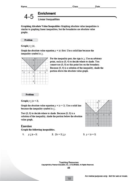 Integrated Math 2 Worksheets by Pearson Integrated High School Math Common Program