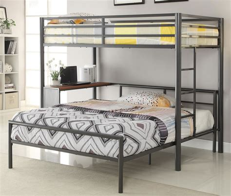 Bunk Bed With Workstation Metal Workstation Affordable Youth Furniture