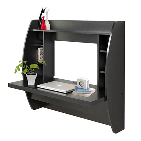 wall shelf for computer wall mount floating computer desk storage shelves home office laptop table black ebay