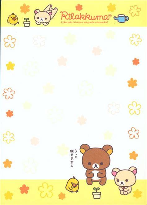 Frame Rillakuma rilakkuma memo pad with and flowers by san x memo pads stationery shop modes4u