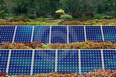 concept of solar panel garden stock images image 16983294