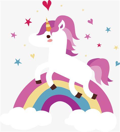 imagenes de unicornios y arcoiris unic 243 rnio do arco 237 ris vector png o unic 243 rnio