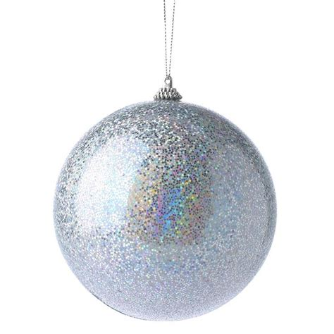 large iridescent silver ornament