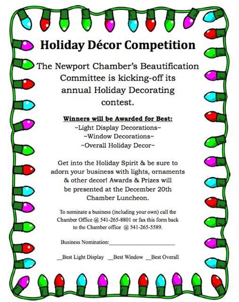 office holiday decorating contest flyer cubicle decorating contest billingsblessingbags org