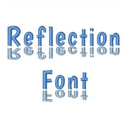 reflection font  hopscotch home format fonts  embroiderydesignscom