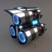 Blender Quantum Turbo 3ds max spaceship drive stardrive